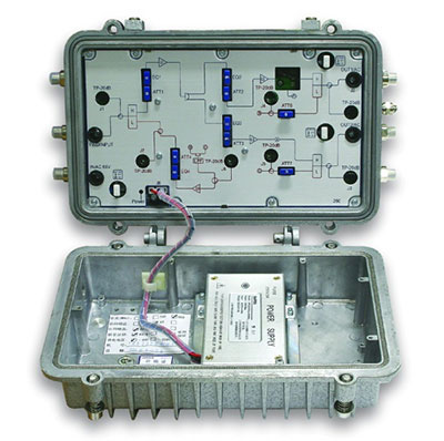 Lindsay's dual high output broadband  line extender is a full featured two-way  1GHz amplifier perfect for your lowest  cost per mile HFC deploy