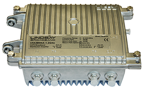 Model LHA38R 1.22GHz  Multiple Dwelling Amplifier  field upgradeable 42/54, 85/102, 204/258MHz.
